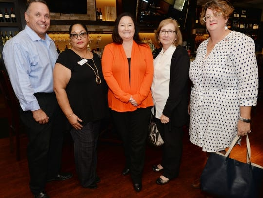 St. Lucie County Chamber of Commerce members Mark Trembley,