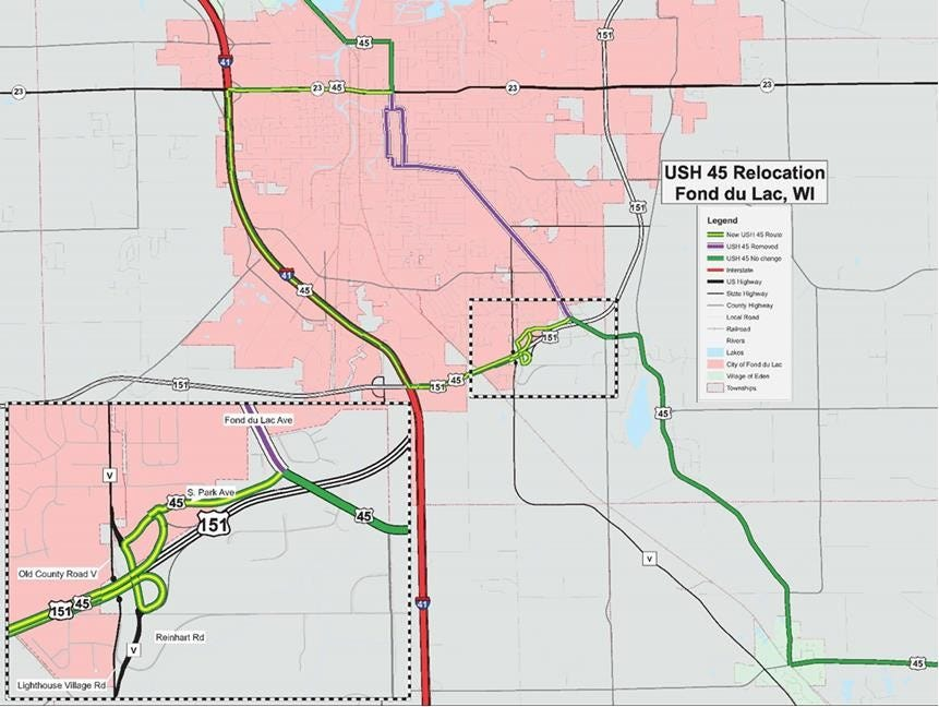 New US 45 route in Fond du Lac County unveiled