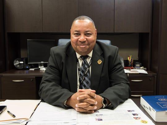 Delmar Police Chief, Ivan Barkley, in his office on Pennsylvania Avenue on Thursday.