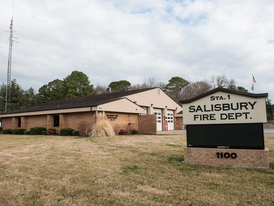 Salisbury Fire Department Station 1 on Beaglin Park Drive.