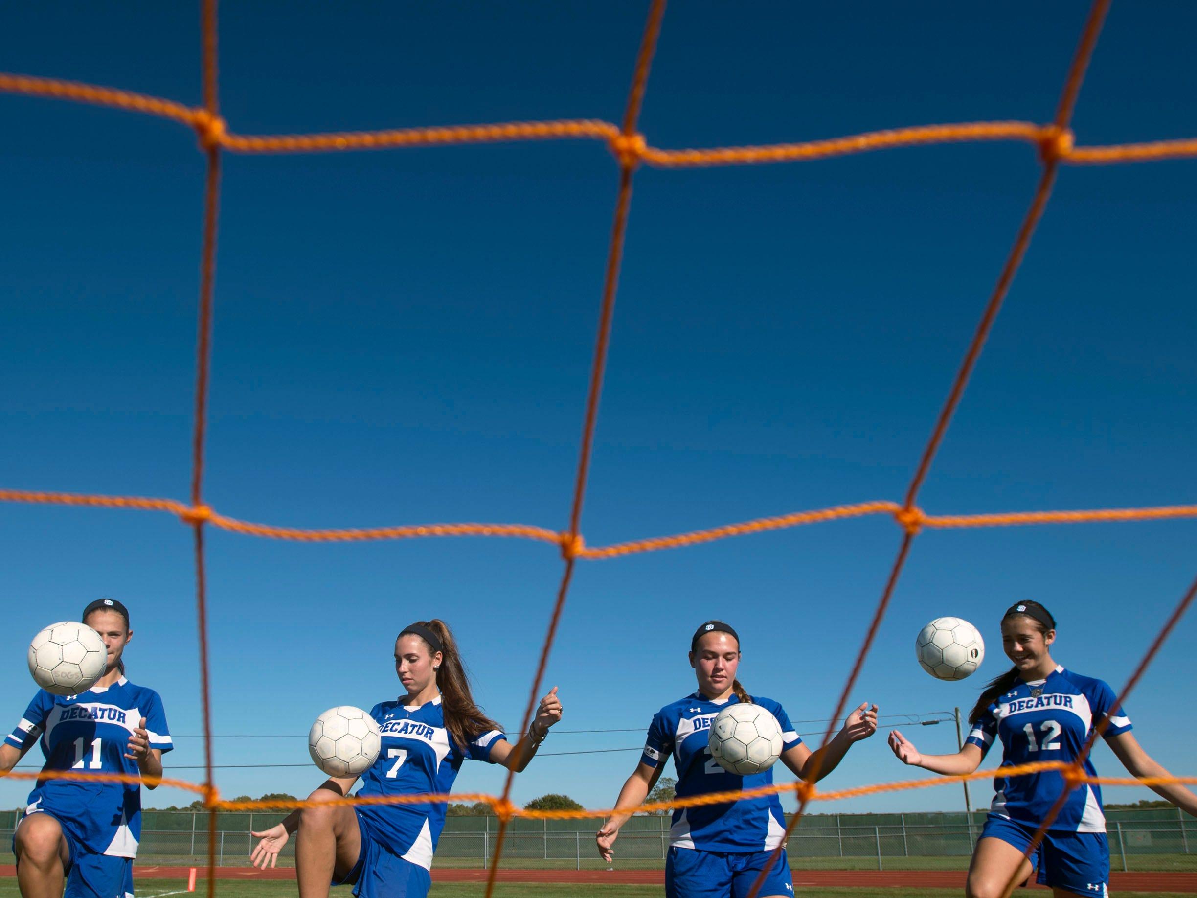 Stephen Decatur captains Ally Beck, from left, Jenna Leitgeb, Jillian Petito and Payton VanKirk.