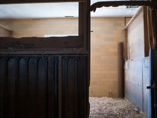 Inside Bryce Lingo's barn Tuesday, March 17 in Lewes.