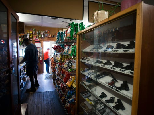 Customers shop inside Wilson's General Store Tuesday, April 7 in Georgetown.