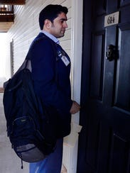 Dr. Romin Shah travels with a backpack full of supplies