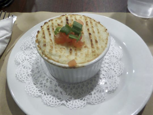 "The shepherd's pie at Garryowen Irish Pub was guests' first taste on the ""Savor Gettysburg"" tour."
