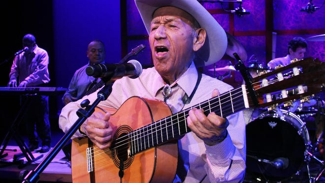 """Manuel """"Cowboy"""" Donley performs at the 2014 National Endowment for the Arts' National Heritage Fellowships Concert. The """"Godfather of Tejano music"""" died at 92 on Sunday."""