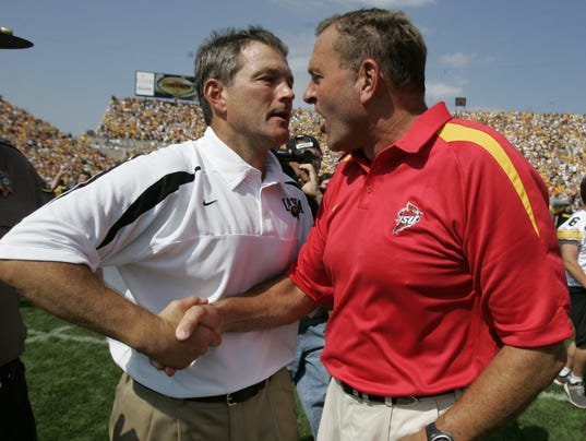 Kirk Ferentz and Dan McCarney
