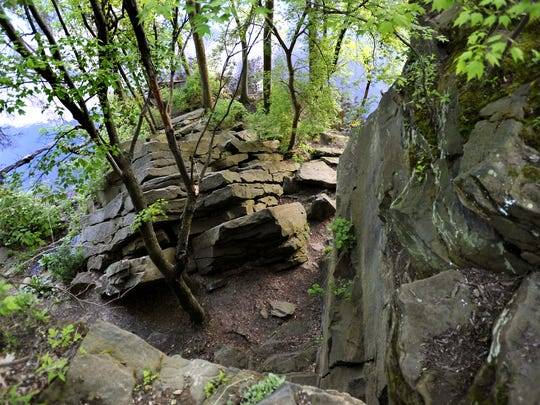 "Scenery and rock formations at the Ledges. Holly Deal: ""My favorite place in Michigan isn't just one place. It's where we can get away from concrete jungles and head out into the trees or the water. It's the sandstone rock formations in Grand Ledge; the Kitchitikipi, or Big Spring, at Palms Brook State Park in the U.P., where visitors can ride a glass-bottom raft across the spring and see all the way down to the bottom; or Dodge Park in Sterling Heights where my family would hit the trails on our bikes when I was a kid. And some favorites are ones I haven't visited yet, like Pictured Rocks and Miners Castle or Isle Royale."""