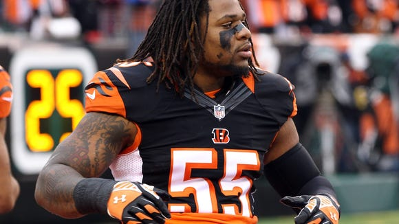 Vontaze Burfict was ranked the 52nd best player in the NFL by the votes of his peers.