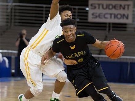 Arcadia's Travious Fielding (10) is a first-team All-State Class 1A selection.