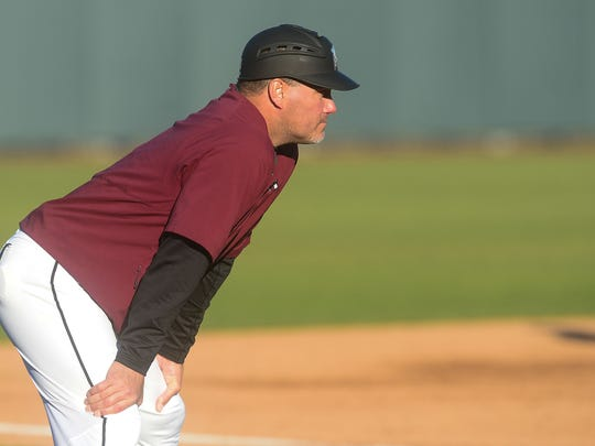 Maryland Eastern Shore's Head Coach Brian Hollamon during the against La Salle on Tuesday, Feb. 27, 2018 at the Franklin Perdue Stadium in Salisbury, Md.