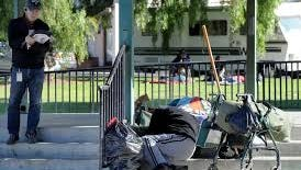 Homeless are tracked during the Ventura County Homeless Count in this file photo.