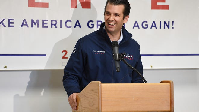 Donald Trump Jr. speaks at Colorado Youth Outdoors on Thursday, November 3, 2106.