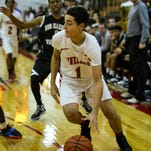 Vineland guard Christian Quijada drives the baseline during a 42-40 loss to Egg Harbor Township on Monday.