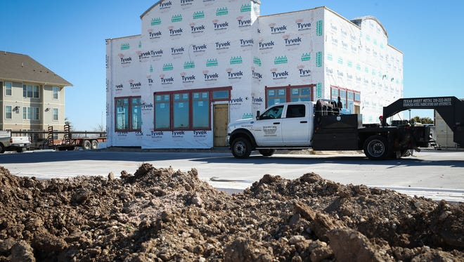 Construction continues on Bush's Chicken Tuesday, Jan. 23, at 1225 Knickerbocker Road in San Angelo.