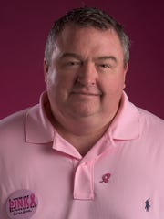 Stephen Fowler with the Autauga County Relay for Life Men in Pink fundraiser is shown in Montgomery, Ala. on Monday October 17, 2016.