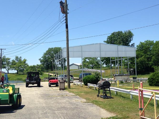 Construction for a new shelter and stage this summer