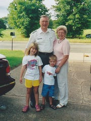 Steff Neff (front, at left) is shown visiting her grandparents, the late Jim Stevens (back row), and Sharon Stevens Edwards. Neff, who grew up in Houston, still has very fond memories of her visits to the Twin Lakes Area.