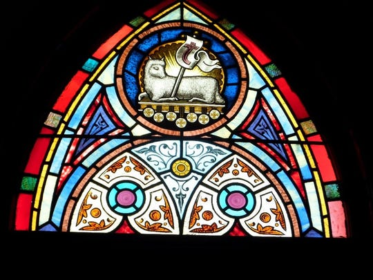 Lamb of God depicted in one of the last set of windows.