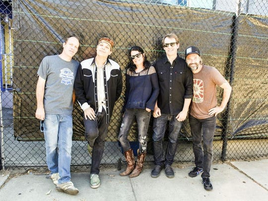 Donna the Buffalo are, from left, David McCracken, Jeb Puryear, Tara Nevins, Mark Raudabaugh and Kyle Spark.