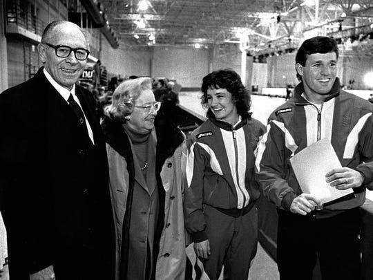 Milwaukee philanthropists Lloyd Pettit (left) and Jane