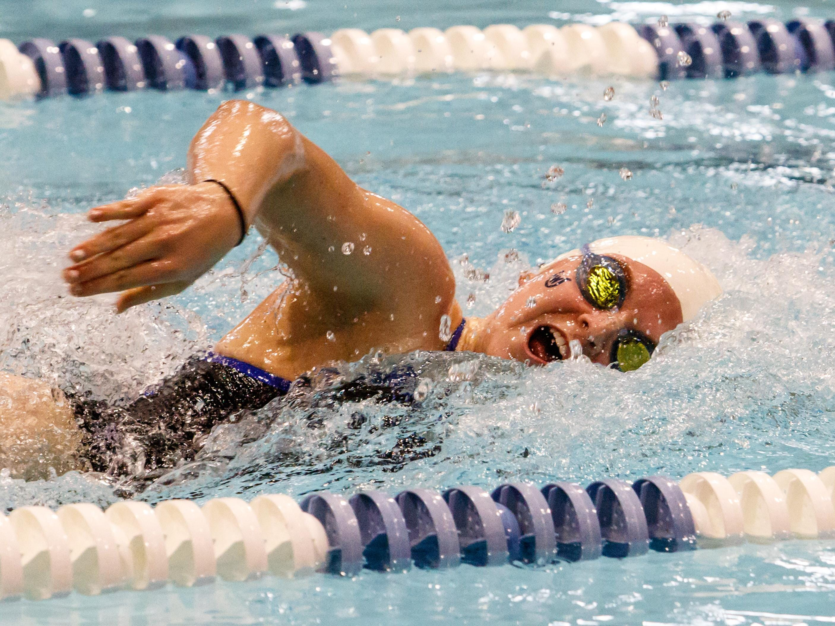 Wyoming's Lia Thomas competes in the 2015 sectional swim meet.