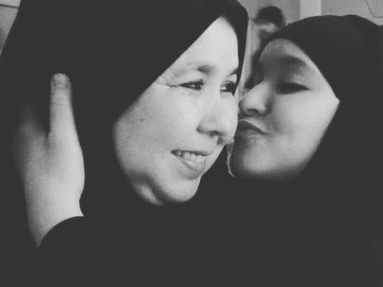 Fatima Charrihi, left, and her daughter Hanane, right.