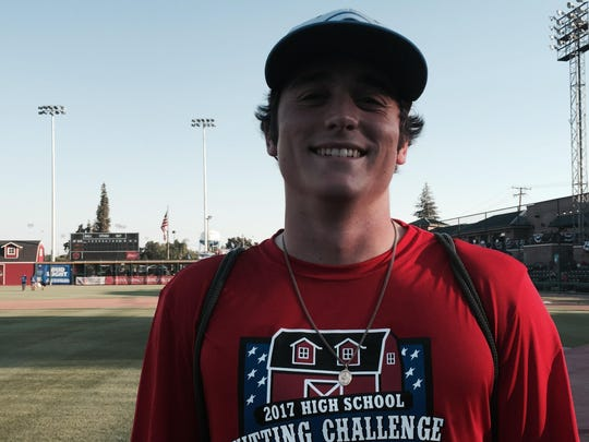 Dalton Daily, a 2017 Central Valley Christian High School grad, won the boys High School Hitting Challenge on Monday at the 2017 California League Fan Fest at Rec Park.