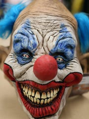 One of the clown masks sold at Cappel's.