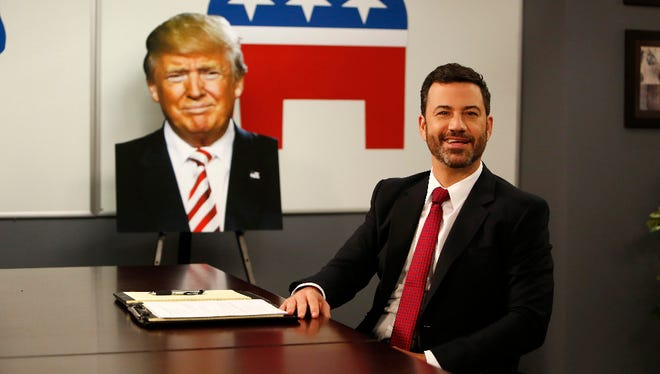 Kimmel with the candidate Raniya said looked like a carrot.