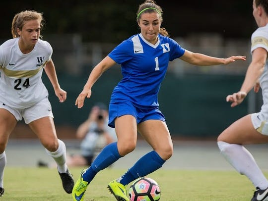 Midfielder Casey Martinez is a graduate transfer to Arizona State soccer from Duke.