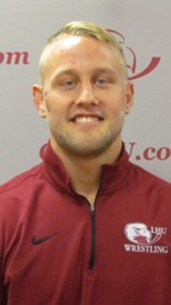 Lock Haven redshirt senior wreslter Phil Sprenkle, a Dallastown High School graduate.