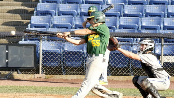 Zach Cohen takes a swing for Lakeland on June 9 during