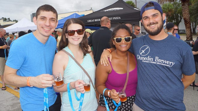 Fun times at the Rocky Water Brew Fest at Eau Gallie Square on Sept. 20, 2014. (Heath Chapman, For FLORIDA TODAY) ( Entertainment )