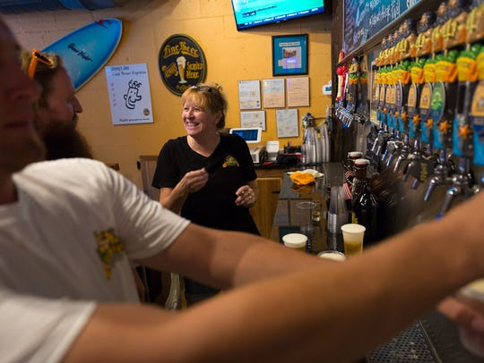Rita Alexander, wife of Riptide Brewing Company co-owner