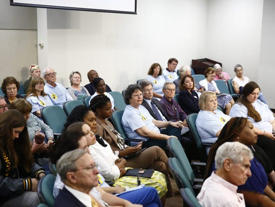 Citizens of Leon County packed the Board of County