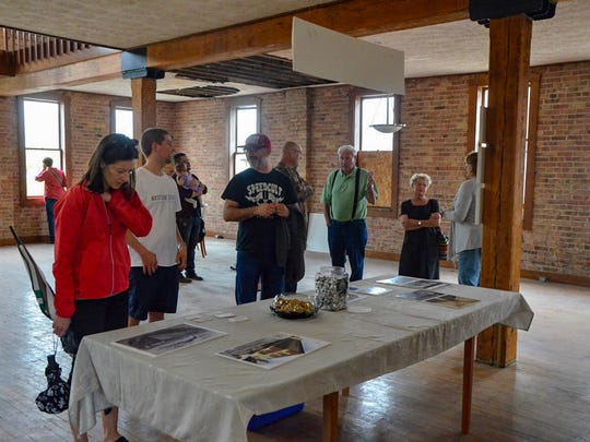 The 15 Carlyle building was open for touring during the 2018 Spring into the Arts, drawing a curious crowd.
