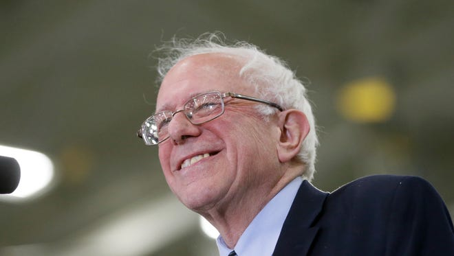 Democratic presidential candidate, Sen. Bernie Sanders speaks at a rally at the Macomb Community College, Saturday, March 5, 2016, in Warren, Mich.