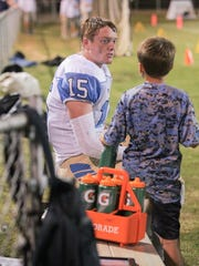 Daniel's Jake Venables (15) during a break during the