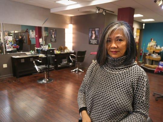 Chi Wah Soo poses in her Chi Wah Organica salon in
