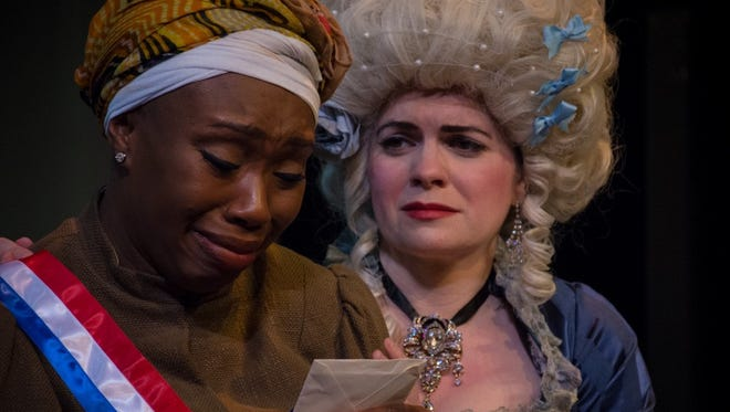 "Aleta Myles, left, and Jennifer Richmond in ""The Revolutionists."""