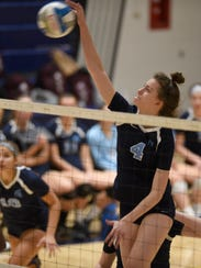 Stevenson's Elizabeth Cleaveland goes for a kill against