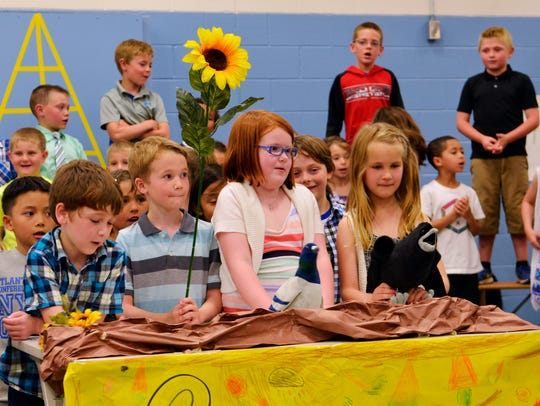 Students at Manitowoc's Monroe Elementary School participate