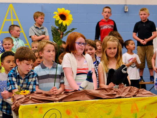 Students at Manitowoc's Monroe Elementary School participate in their spring recital.