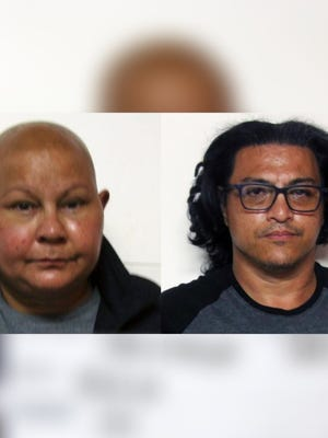 Combined mugshot of Kala Jo Taitague and Enrique Harris Guerrero