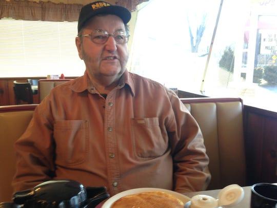 Jesse Helsel of Huntingdon at Top's Diner.