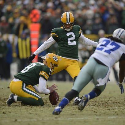 Green Bay Packers kicker Mason Crosby.