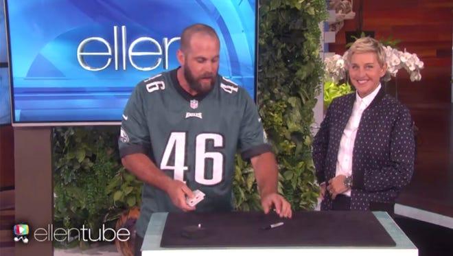 Ellen DeGeneres was amazed by the card tricks.