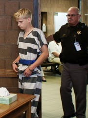 Andrew David Willson, 19, appears for an arraignment