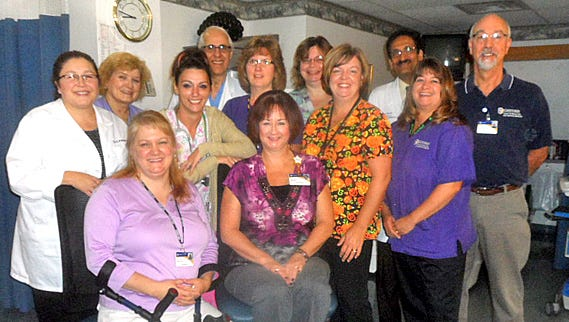 The wound care staff at Guthrie Robert Packer Hospital in Sayre.
